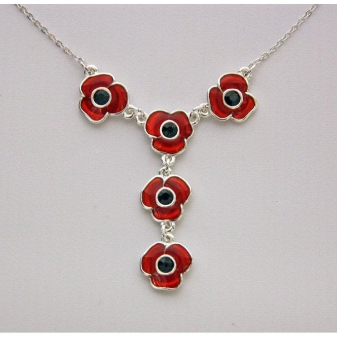 Designer Poppy Necklace  18 Inch