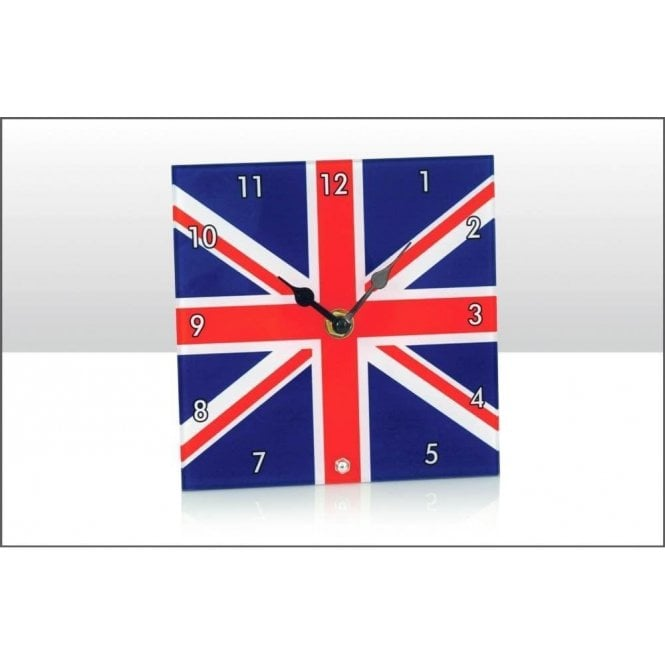 Union Jack Wear Union Jack Glass Desk Clock