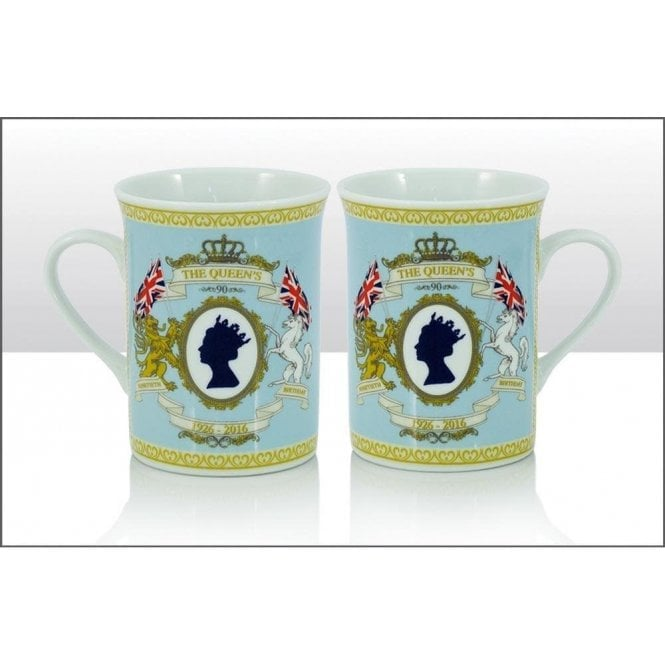 Union Jack Wear HRH The Queens 90th Birthday Collectors Mug