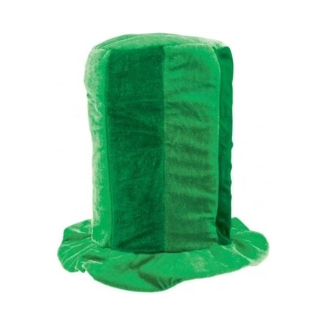 Union Jack Wear Green Tall Top Hat - St Patricks Day?