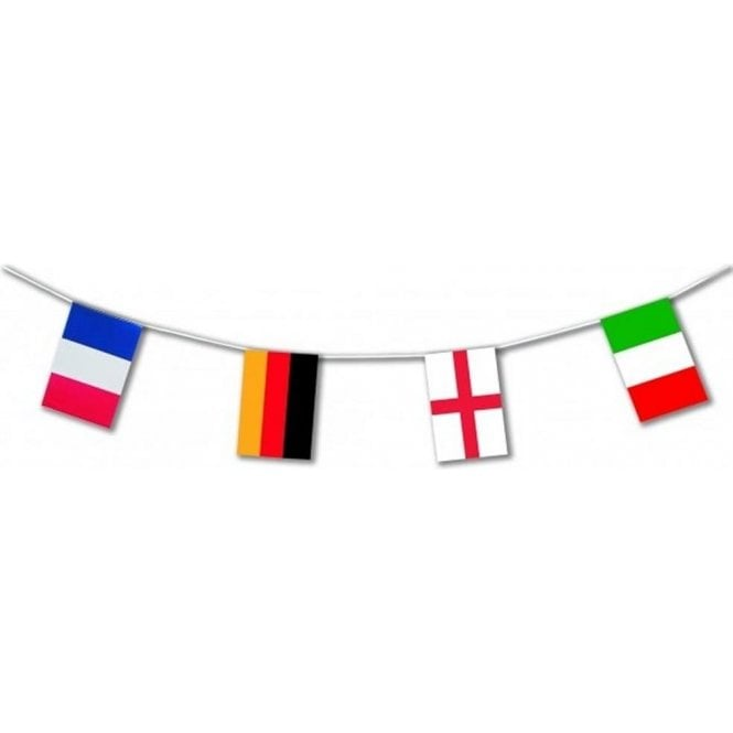 Union Jack Wear Euro 2016 bunting 24 countries 10 metres