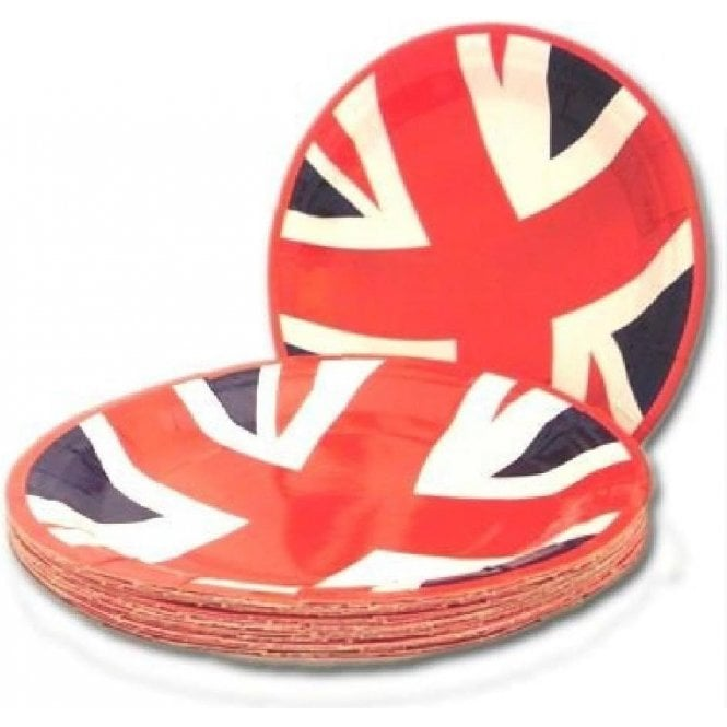Union Jack Wear Union Jack Value Party Plates - pack of 20