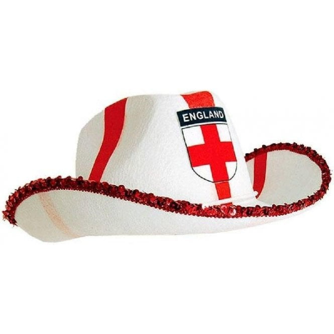 Union Jack Wear England St George Cross Cowboy Hat - World Cup