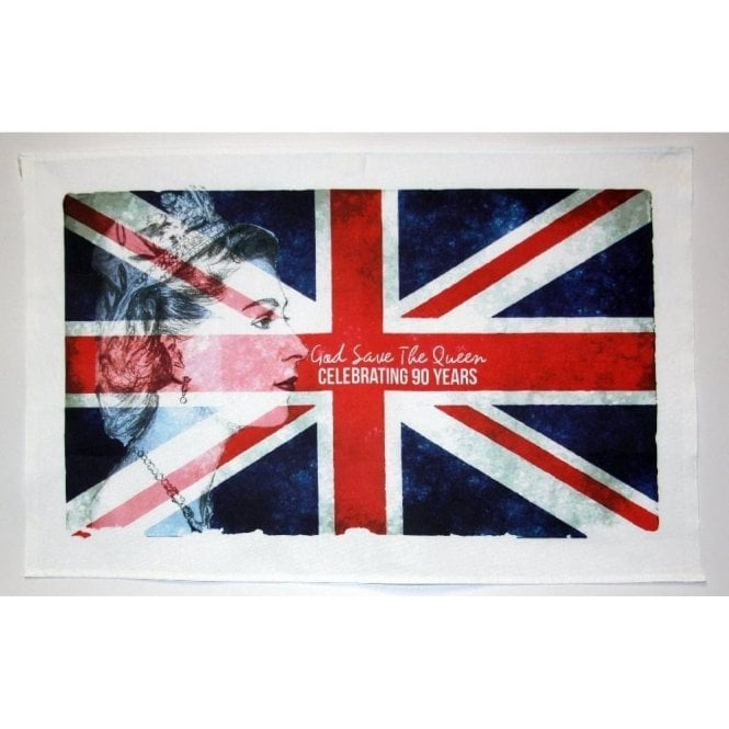 Union Jack Wear HM Queen Elizbaeth II 90th Birthday Union Jack Tea Towel