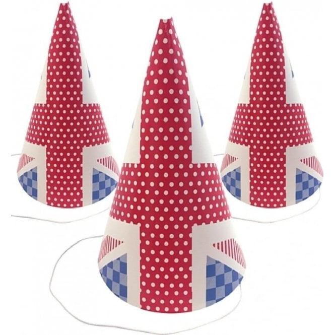 Union Jack Cone Party Hat
