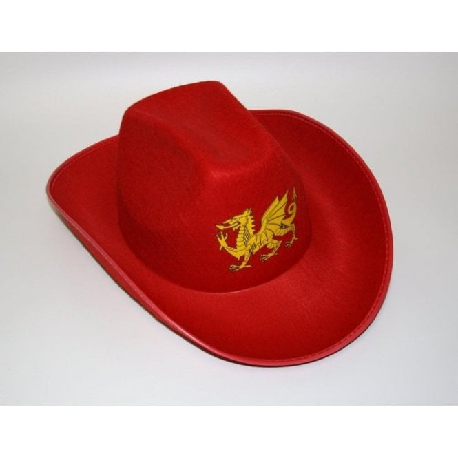 Union Jack Wear Red Wales Welsh Cowboy hat