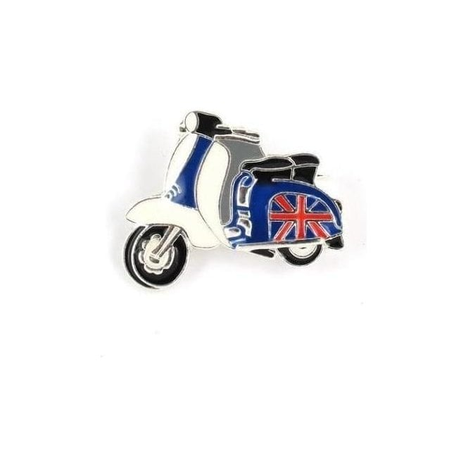Union Jack Wear Union Jack Scooter MOD Pin Badge / Brooch