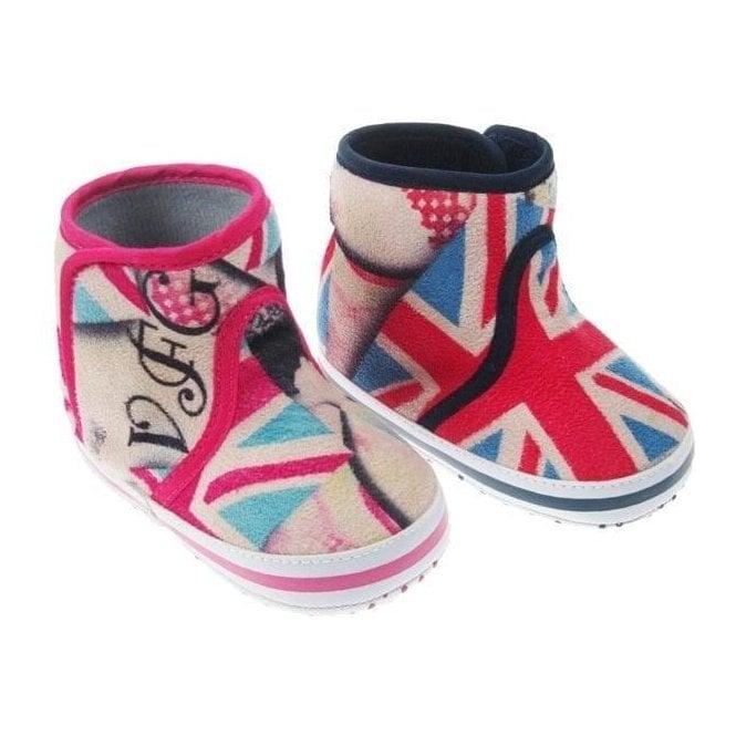 Union Jack Wear Union Jack Baby Fleece Boots