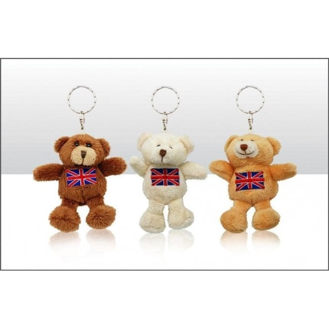Union Jack Soft Teddy Bear Keyrings