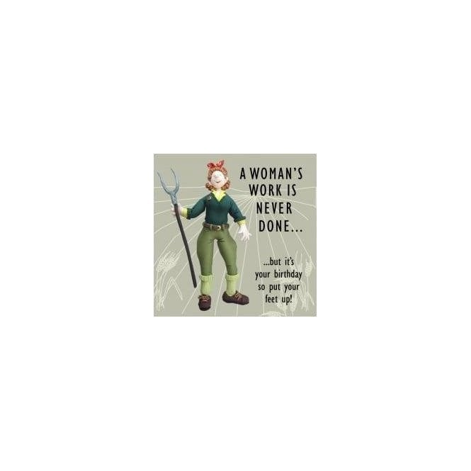 Union Jack Wear Land Girl 1940s style Birthday Card
