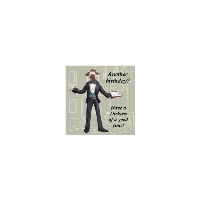 Union Jack Wear Charles Dickens Humourous Birthday Card