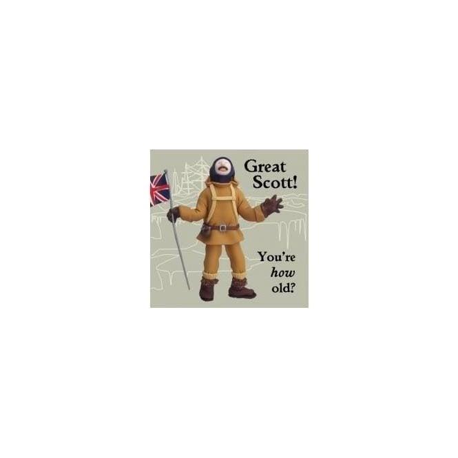 Union Jack Wear Scott of the Antarctic Birthday Card Great Scott!