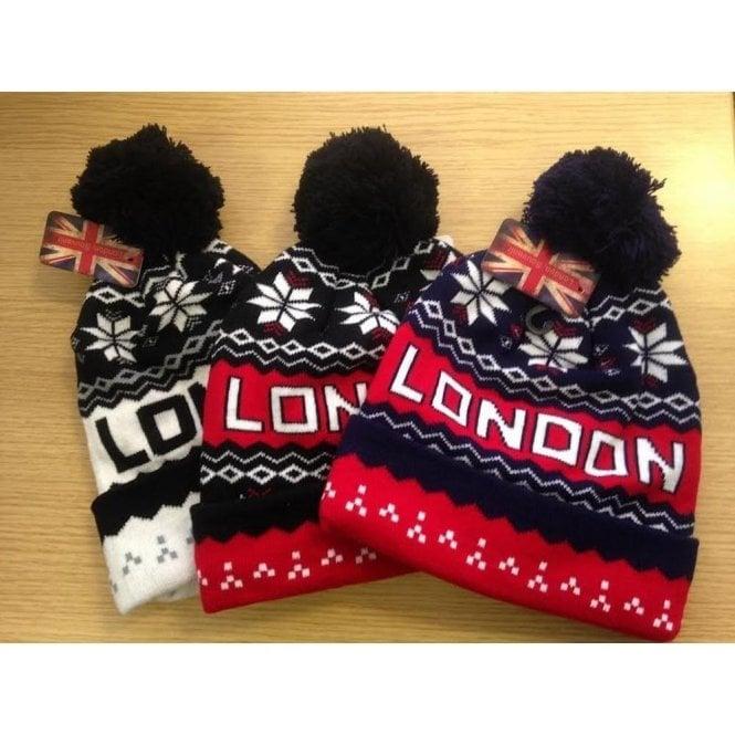Union Jack Wear London Winter Pom Pom Beanie
