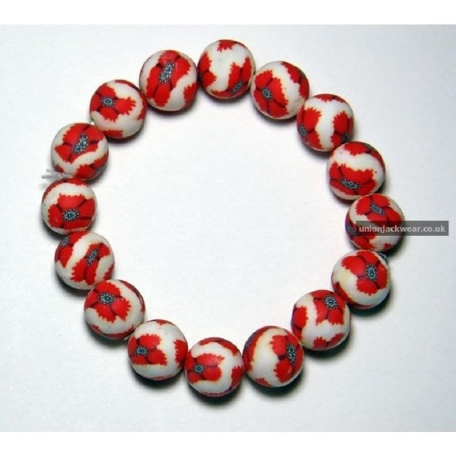 Union Jack Wear Poppy Bracelet