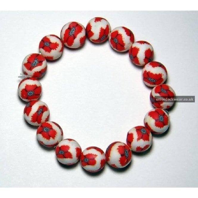 Union Jack Wear Poppy Bracelet