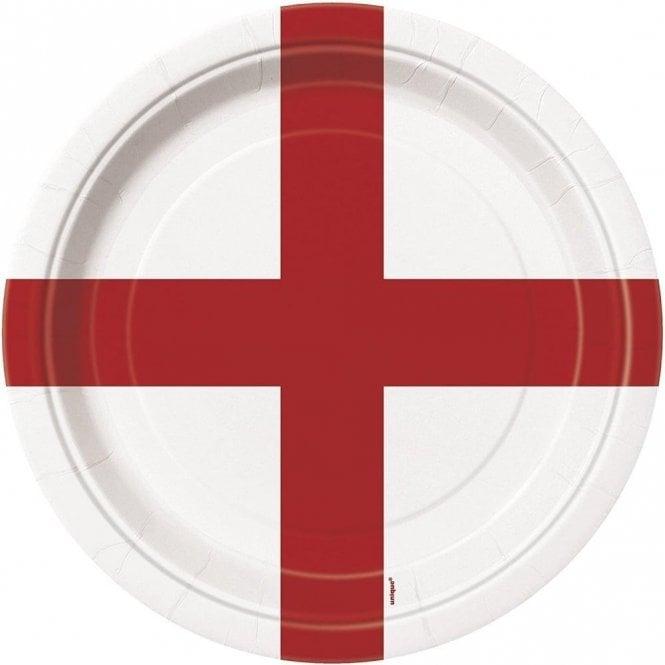 Union Jack Wear St George England Party Plates