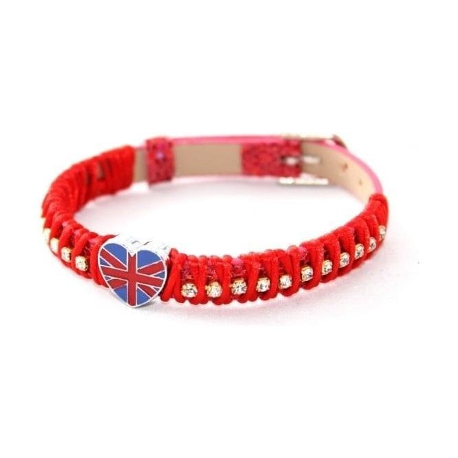 Union Jack Wear Union Jack Heart Bracelet