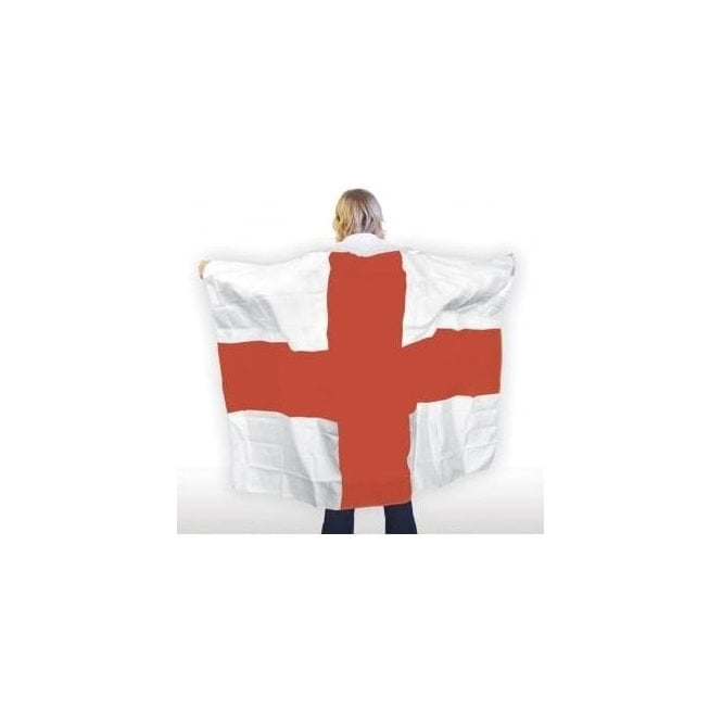 Union Jack Wear England Flag Body Cape - St George Cross Cape - Adult Size