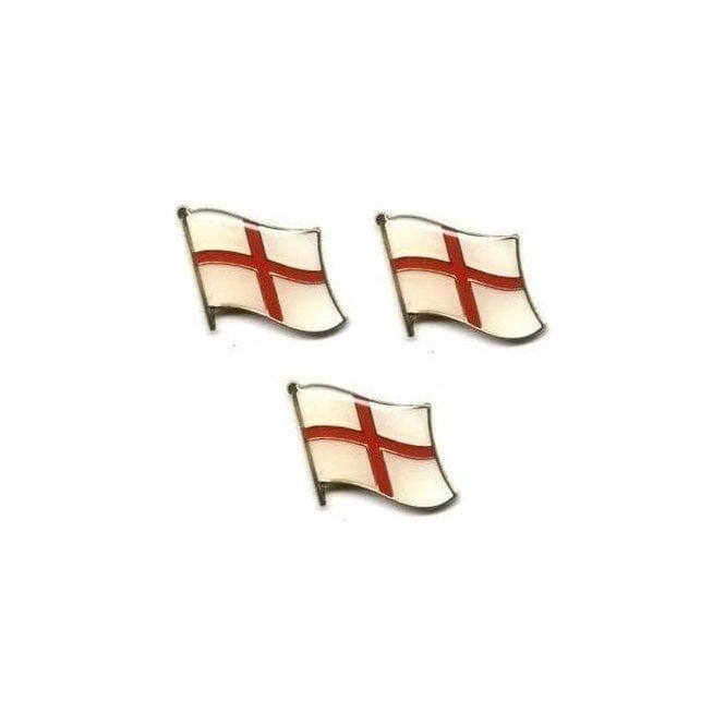 Union Jack Wear England St George Cross Waving Flag Pin Badge