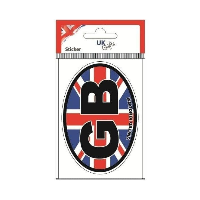 Union Jack Wear GB Union Jack Oval Sticker