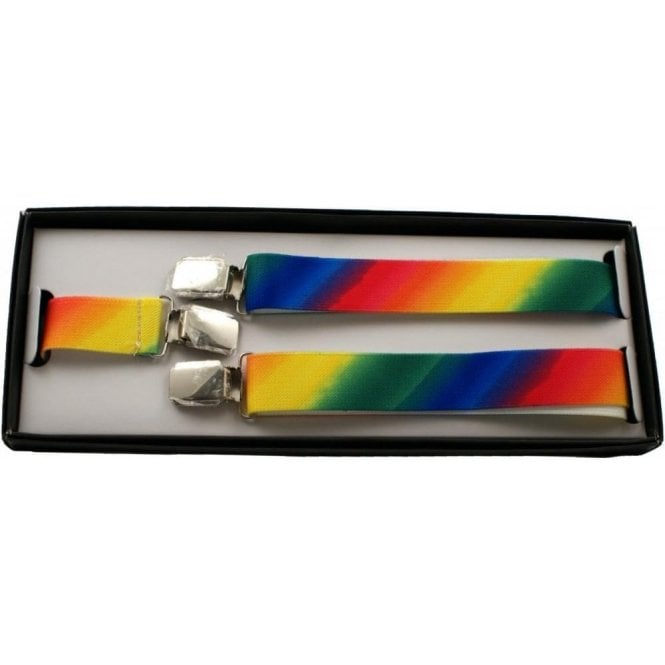 Union Jack Wear Rainbow Gay Pride Braces - Adjustable - 25 mm wide