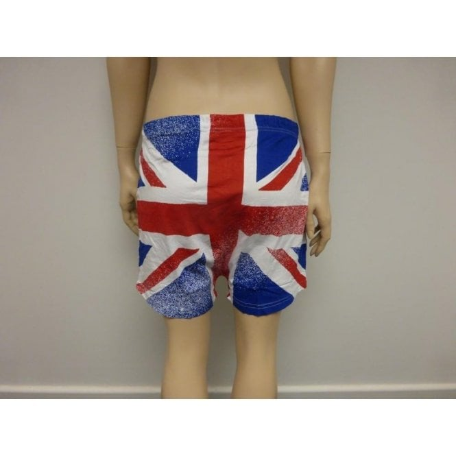 Union Jack Boxer Shorts Plain front Flag back