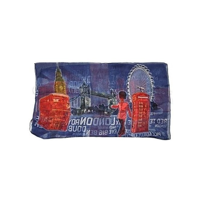 Union Jack Wear Union Jack London Icon Shawl/Pashmina Blue & Red