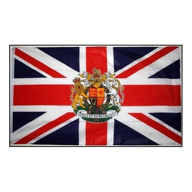 Union Jack Wear Union Jack Royal Crest Flag 5' x 3'