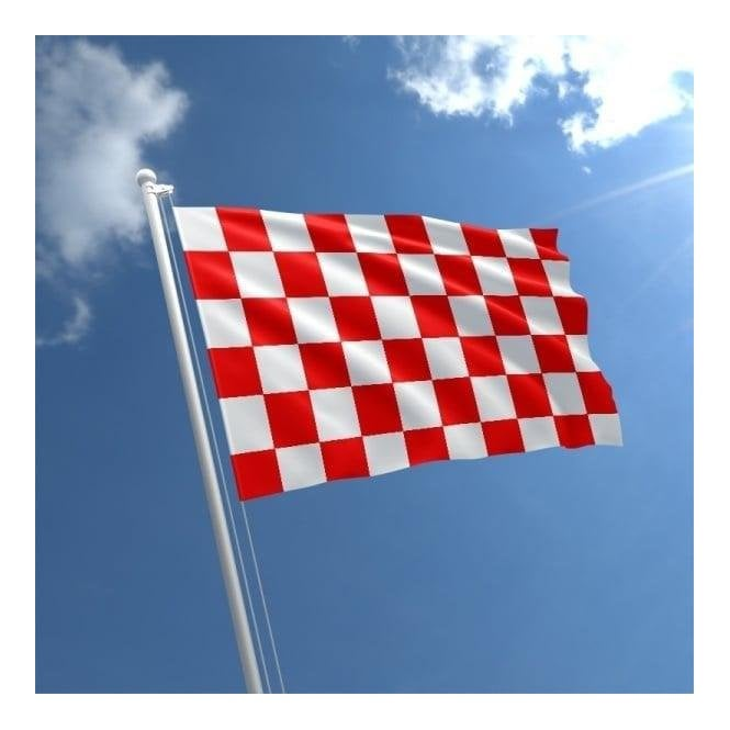 Union Jack Wear Red & White Checkered Flag 5' x 3'
