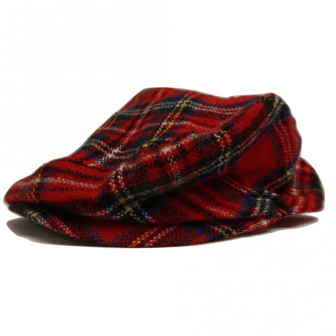 Union Jack Wear Red Tartan Flat Cap