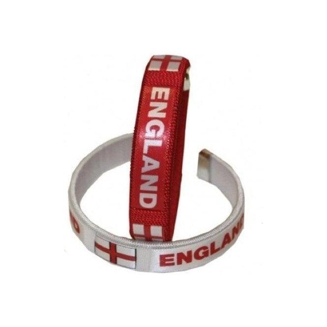 Union Jack Wear 2 England Fabric Bracelets