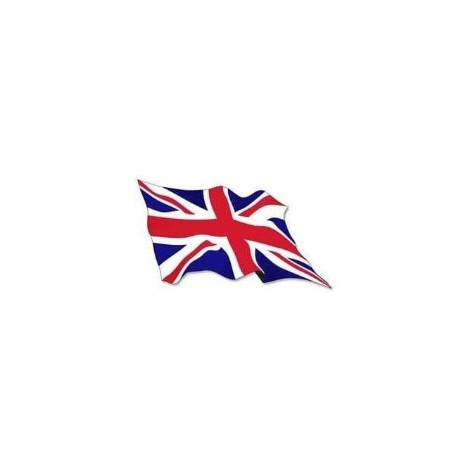 Union Jack Wear TWO Union Jack Wavy Flag Stickers 7cm x 3cm
