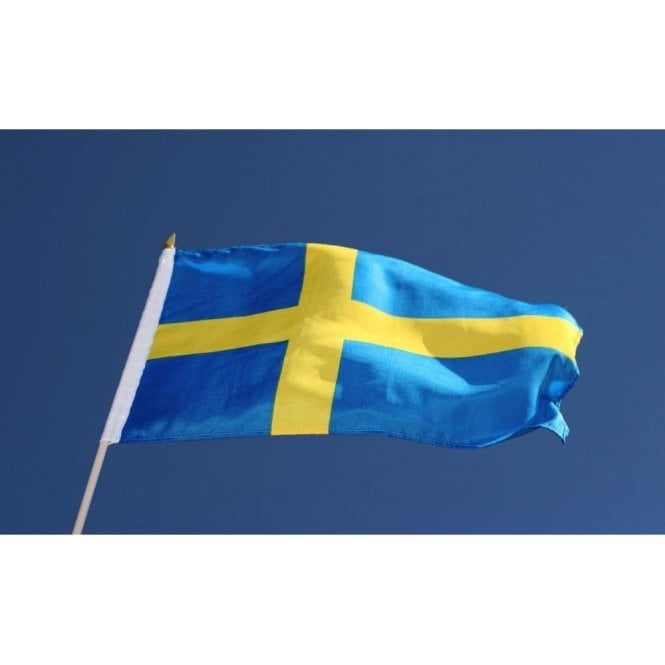 Sweden Hand Flag 2ft