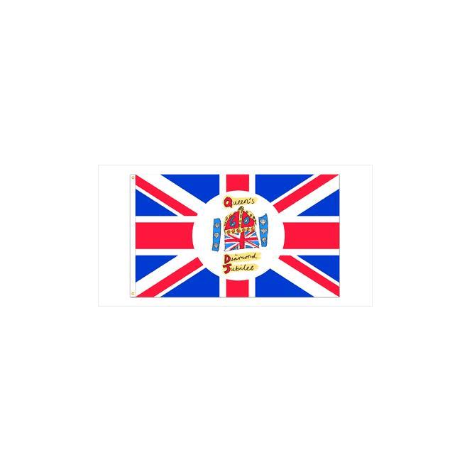Union Jack Wear Queen's Diamond Jubilee Hand Flag 2ft