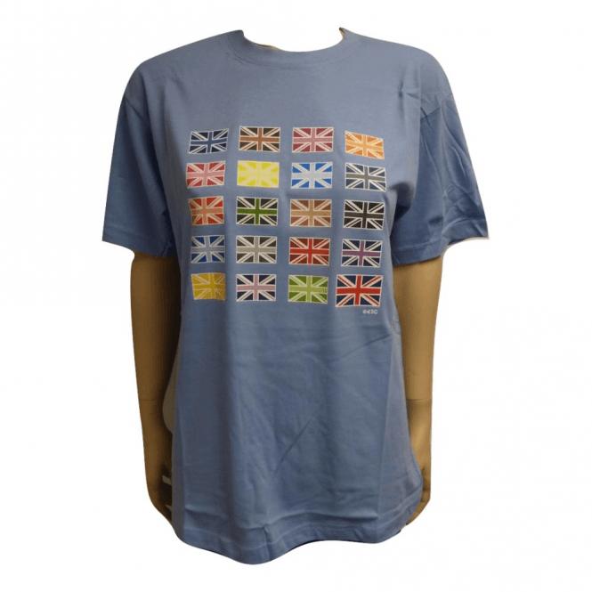 Union Jack Wear Multi Union Jack Designer T shirt