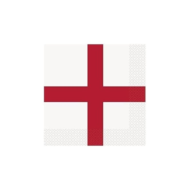 Union Jack Wear England St George Cross Napkins