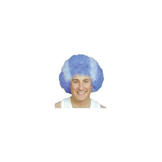 Union Jack Wear St Andrews Scotland Pop Wig Blue & White