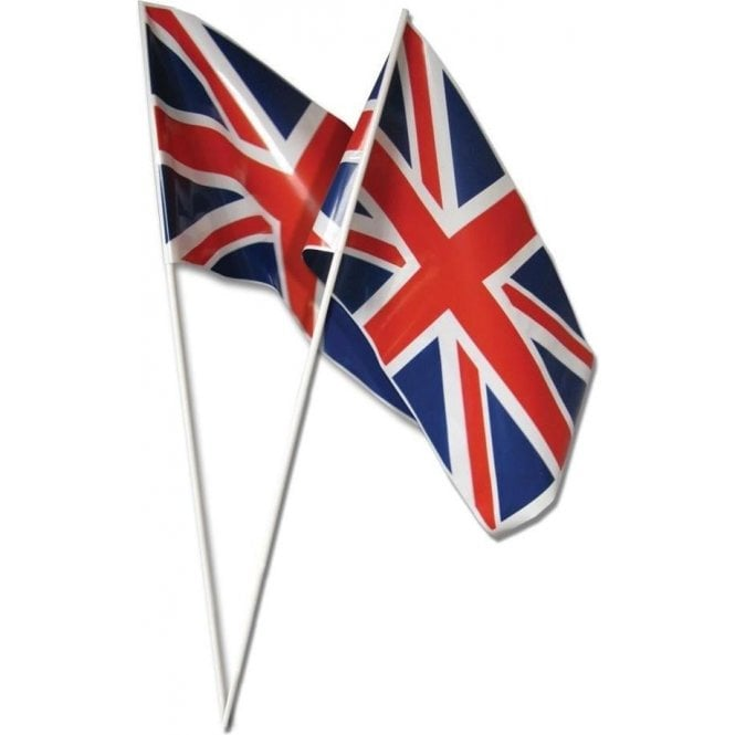 Union Jack Wear Pack of 12 Union Jack Hand Flags