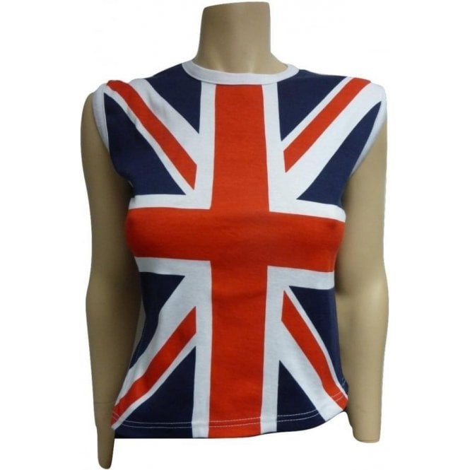 Union Jack Wear Union Jack Ladies Cut sleeve - sleeveless T shirt