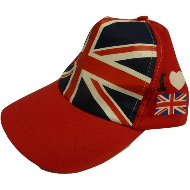 Union Jack Wear I Love Britain Baseball Cap Union Jack & Heart