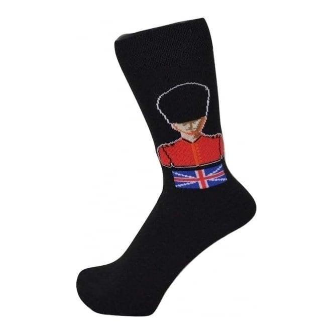 Union Jack Wear British Guardsman Design Socks with Union Jack Soldier