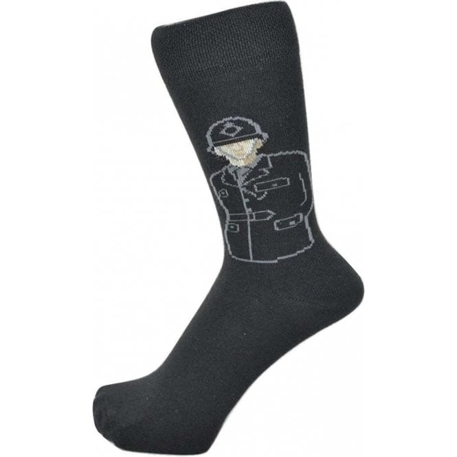 Union Jack Wear British Policeman Design Men's Socks