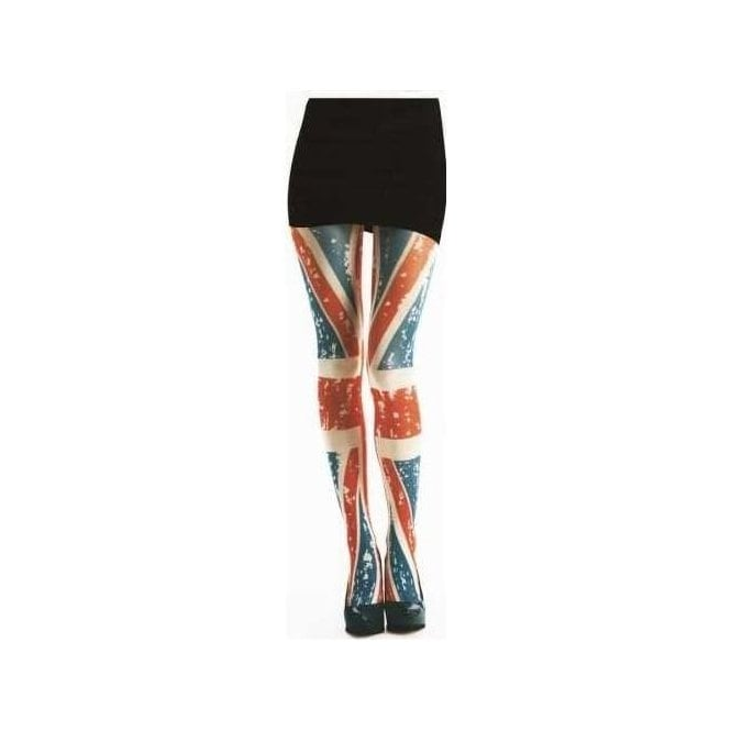 Ladies Union Jack Tattoo Design Semi Opaque Tights
