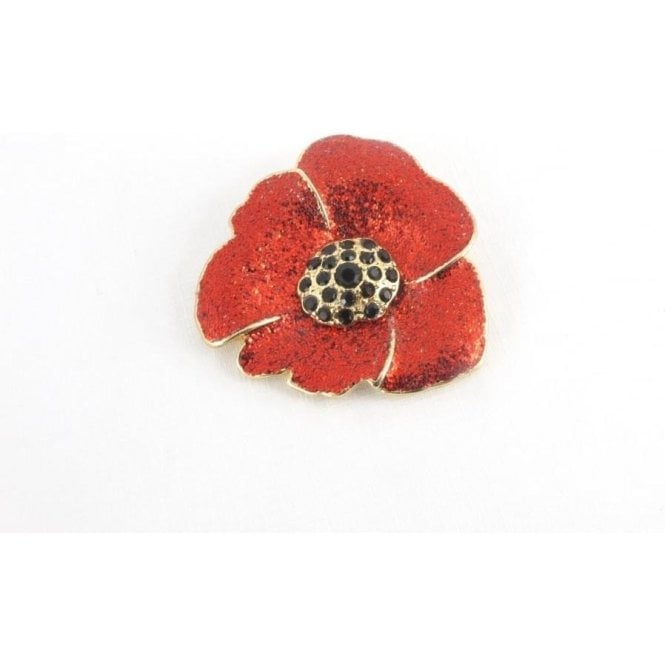 Union Jack Wear Scarf Poppy Clip Red Glitter