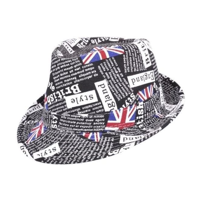 Union Jack News Printed Trilby Hat