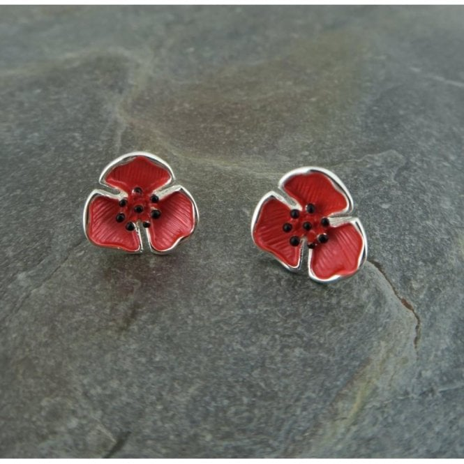 Union Jack Wear Poppy Stud Earrings