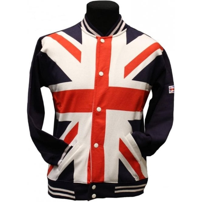 Union Jack Wear Union Jack Baseball Jacket - Unisex
