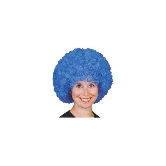 Blue Curly Pop/Afro Wig