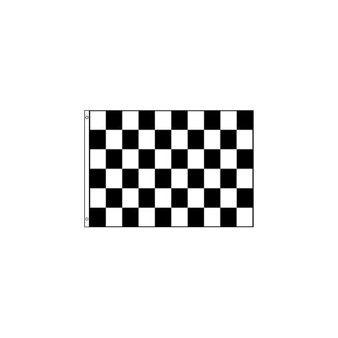 Union Jack Wear Black & White Checkered Flags