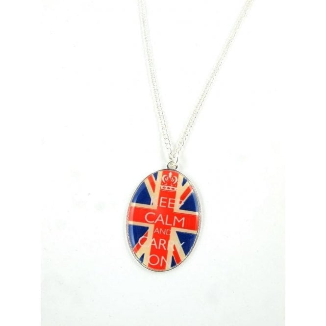 Union Jack Wear Union Jack Pendant Necklace Keep Calm and Carry On